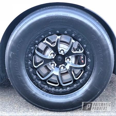 Powder Coating: Wheels,Custom,Automotive,Clear Vision PPS-2974,SUPER CHROME USS-4482,Custom Wheels,Chevrolet,Custom Powder Coated Rims,Pearl Black PMB-5347,Camaro