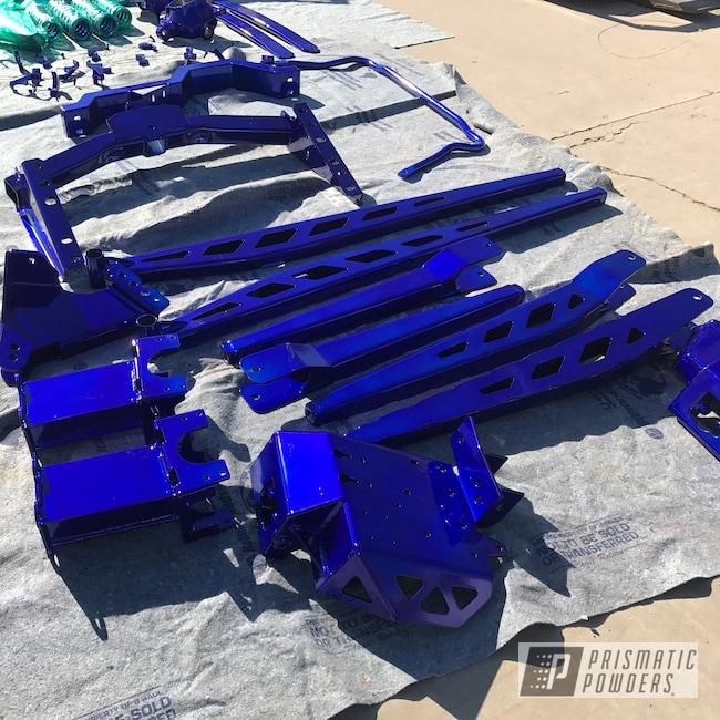 Powder Coating: Automotive,#f250,#f350,Super Chrome USS-4482,Ink Black PSS-0106,#powerstroke,#liftedtruck,f250,Suspension,Lift,PMF,SEMA,Intense Blue PPB-4474,Ford