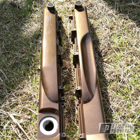 Powder Coating: Clear Vision PPS-2974,LE REVE BRONZE UMB-5376,Custom Coated Parts