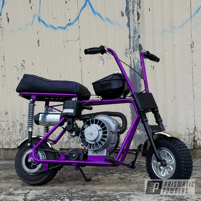 Powder Coating: Card Black PSS-1523,Motor Bike,Clear Vision PPS-2974,Moped Frame,Illusion Violet PSS-4514