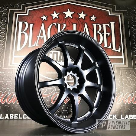 Powder Coating: Wheels,MATTE MISTY BLUE UMB-5959,Automotive,Custom Wheels,Work