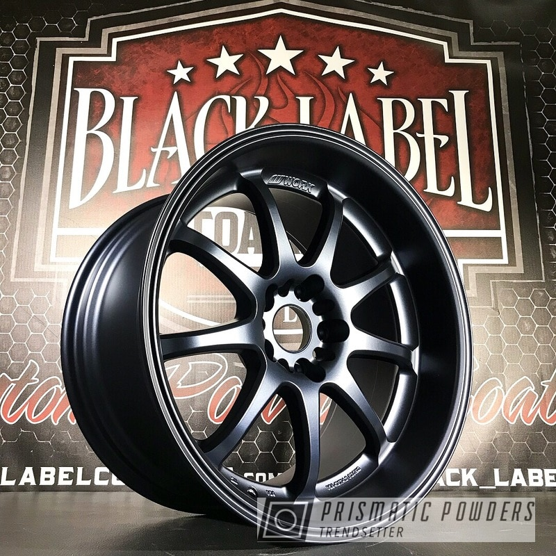 Powder Coating: Wheels,Automotive,Custom Wheels,Work,Matte Misty Blue UMB-5959