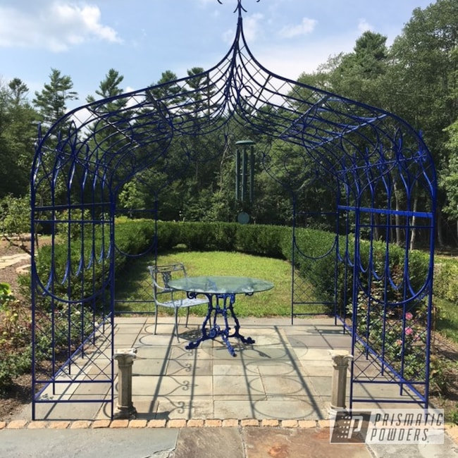 Gazebo Powder Coated In Ral 5002 An Ultramarine Blue Color