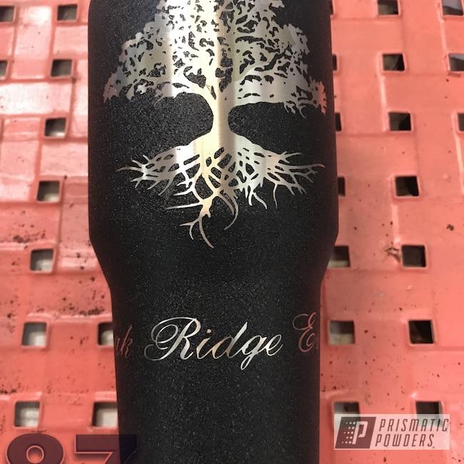 Powder Coating: Splatter Black PWS-4344,Textured Finish,Custom Tumbler Cup,Textured