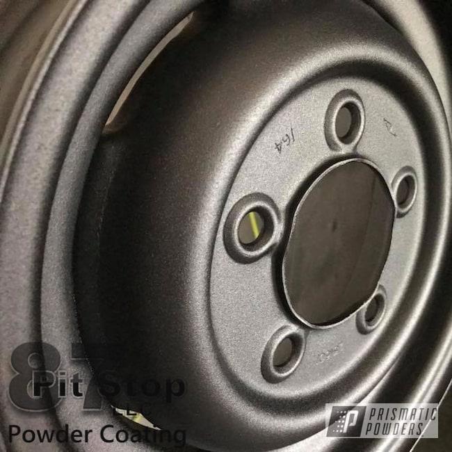 Powder Coating: Wheels,Automotive,Black Cast PCS-4721