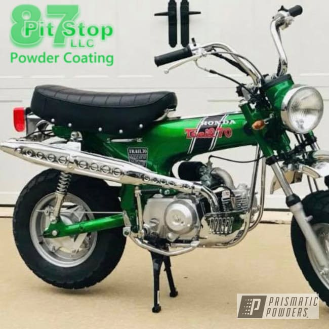 Powder Coating: Illusion Money PMB-6917,Clear Vision PPS-2974,Minibike,Dirtbike