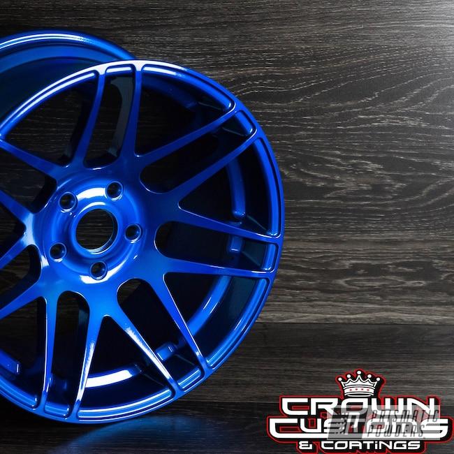 Powder Coating: Wheels,Automotive,SUPER CHROME USS-4482,Custom Wheels,LOLLYPOP RED UPS-1506,Super Chrome Base Coat,Peeka Blue PPS-4351,Cars