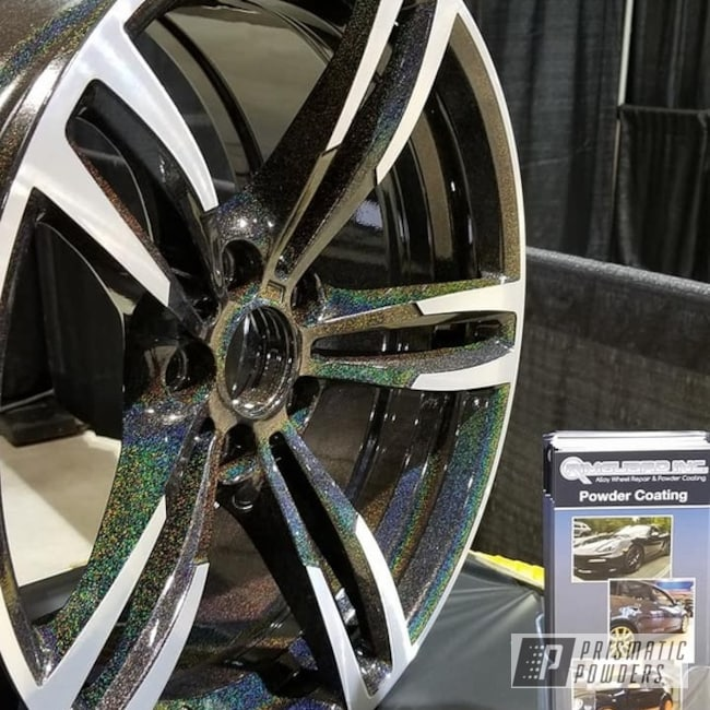 Wheels Powder Coated in a City Lights Top Coat over a Dark ...