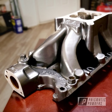 Engine Block Powder Coated In Black Metallic I