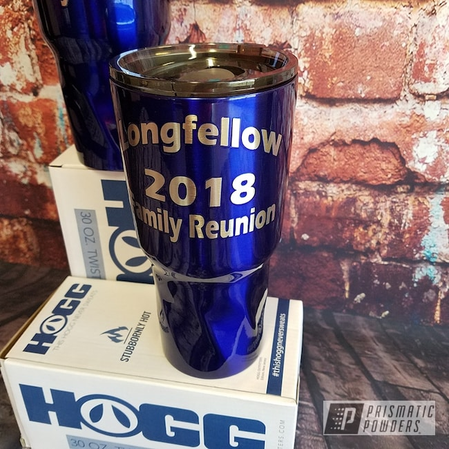 Powder Coating: Custom Cups,Drinkware,30 Oz Tumbler,Intense Blue PPB-4474