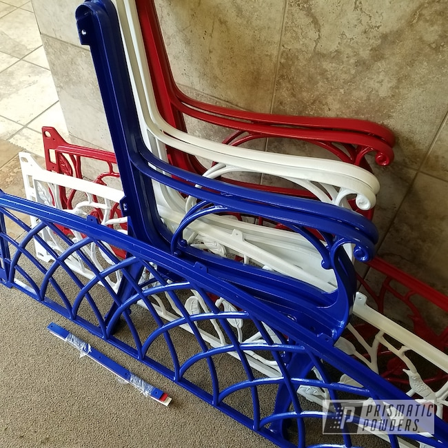 Powder Coating: RAL 5005 Signal Blue,Patio Furniture,Bench,Gloss White PSS-5690,RAL 3002 Carmine Red,lawn furniture