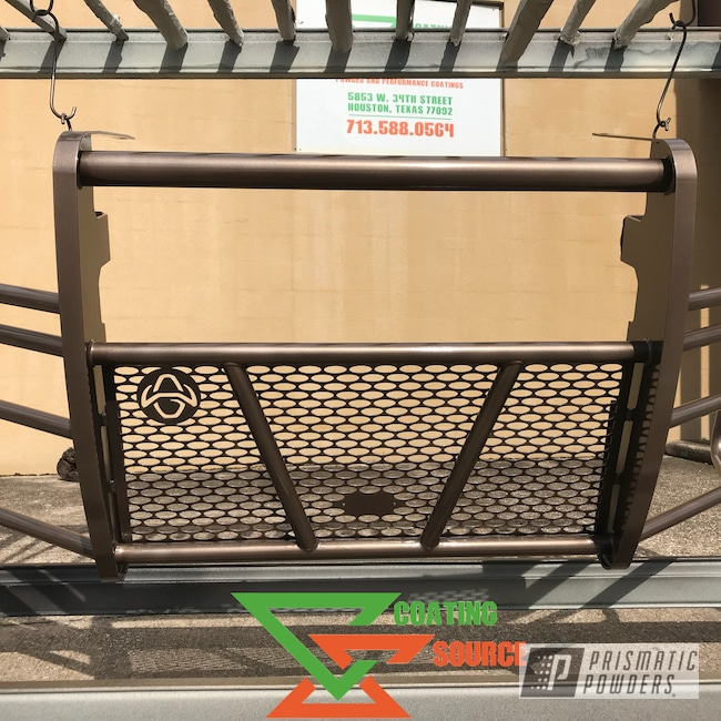 Powder Coating: Luxury Bronze PMB-10029,Clear Vision PPS-2974,Grille Guard,F450,F550,Ford,f250,F350