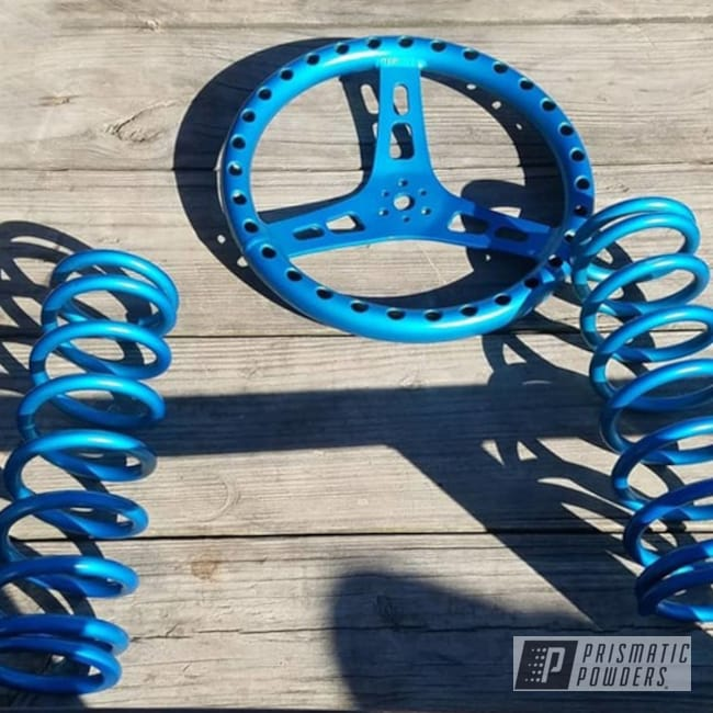 Powder Coating: Suspension Parts,ANODIZED BLUE UPB-1394,Steering Wheel,Suspension