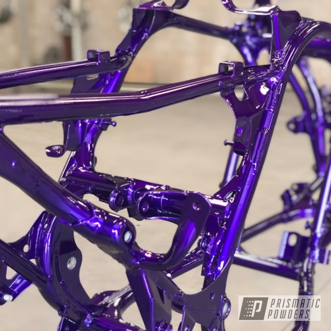 Powder Coating: Illusion Purple PSB-4629,Illusion Powder Coating,4x4,Clear Vision PPS-2974,STI,ATV,Banshee,Yamaha,Frame