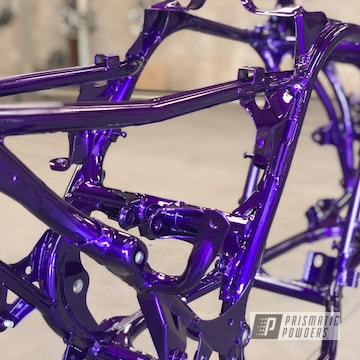 Yamaha Banshee Frame Coated In Illusion Purple