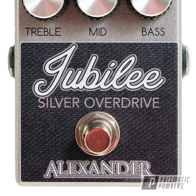 Powder Coating: Guitar Pedal,Jubilee,Heavy Silver PMS-0517,Enclosure,Guitar Effect,Alexander Pedals