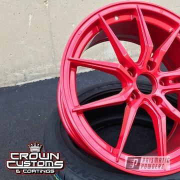Custom Aftermarket Wheels In Very Red Powder Coating