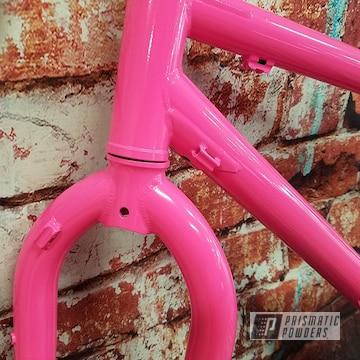 Powder Coated Bike Frame In Sassy