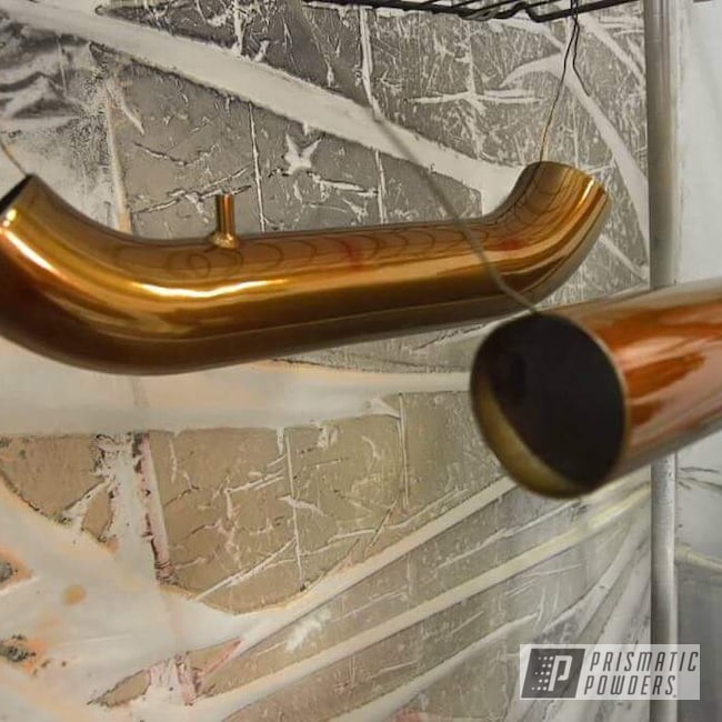 Powder Coating: Automotive,SUPER CHROME USS-4482,Intake Pipe,Trans Copper II PPS-2618