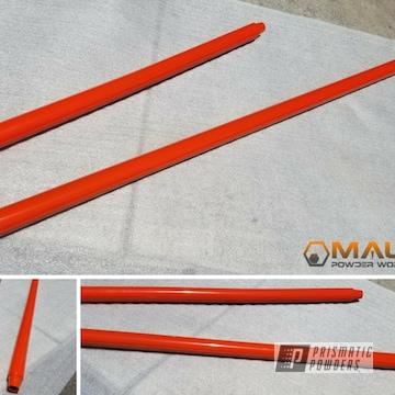 Custom Auto Parts Powder Coated In Tangerine