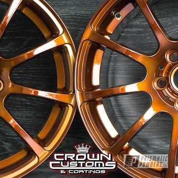Vmr V701 Wheels Refinished In Transparent Copper Top Coat & Super Chrome Base