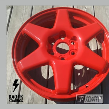 Custom Powder Coated Cadillac Wheels In Rodeo Red
