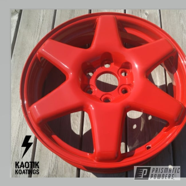 Powder Coating: Wheels,Automotive,Sample,Rodeo Red PMB-5882,Custom Powder Coated Parts,Cadillac,18inch