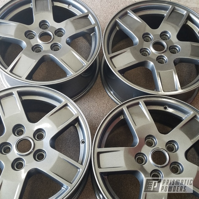 Powder Coating: Wheels,Automotive,Clear Vision PPS-2974,Custom Wheels,Kingsport Grey PMB-5027,Jeep,Powder Coat Wheels,18inch
