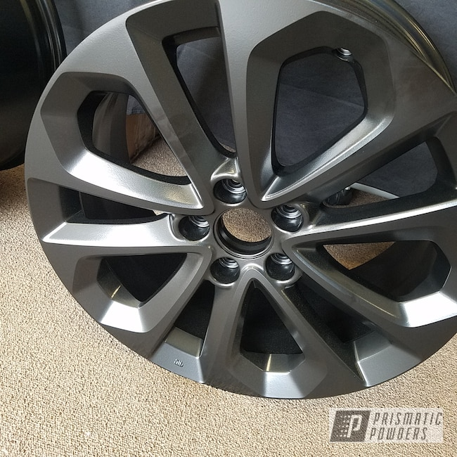 Powder Coating: Wheels,Automotive,Custom Wheels,Honda,Silk Satin Black HSS-1336,Powder Coat Wheels,18inch