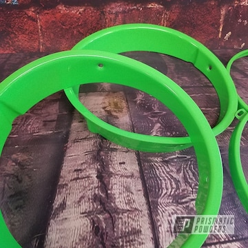 Jeep Parts In A Neon Green Powder Coating