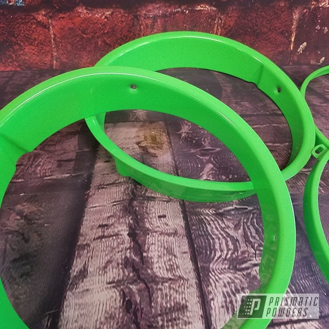 Powder Coating: Automotive,Custom Auto Parts,Jeep,Neon Green PSS-1221