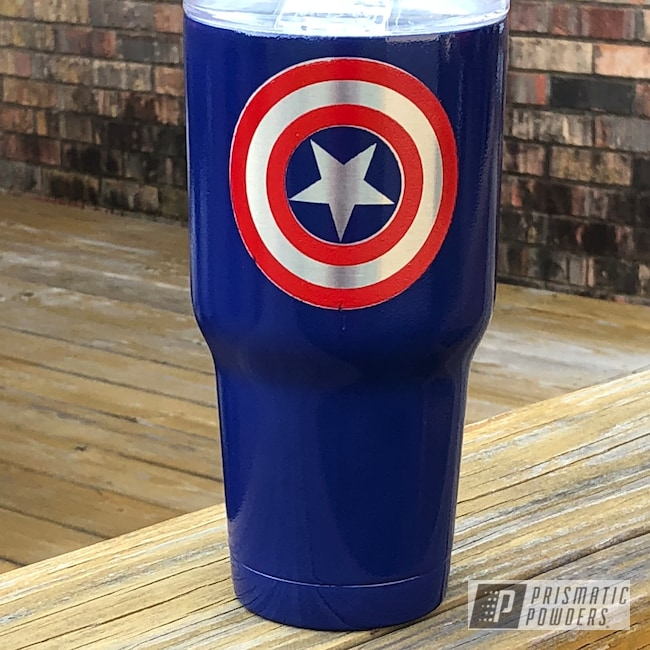 Powder Coating: Clear Vision PPS-2974,Really Red PSS-4416,Custom Cup,Lonestar Blue PMB-5588,Captain America