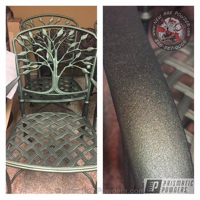 Patio Furniture Refinished In Greenland Powder Coat
