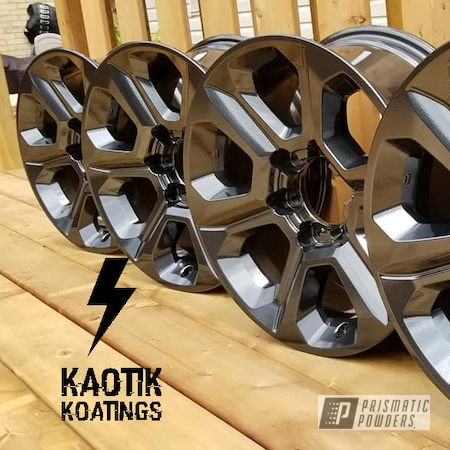 Powder Coating: Wheels,Automotive,Clear Vision PPS-2974,Toyota,JAMAICAN ICE UMB-1146,4runner