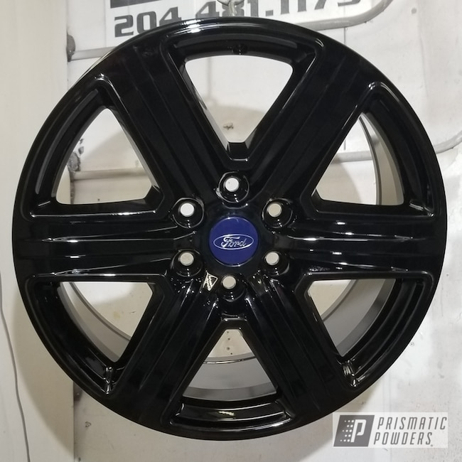 Powder Coating: Wheels,Automotive,Rims,Ink Black PSS-0106,20inch,Ford