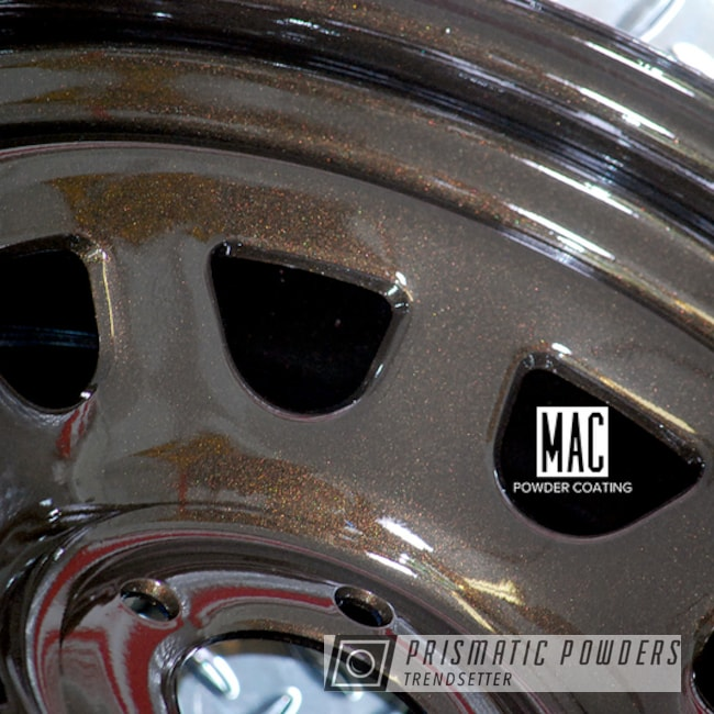 Powder Coating: Wheels,Automotive,Clear Vision PPS-2974,U.S. Wheel,Steel Wheels,Metallic Powder Coating,SOFT RUBBED BRONZE UMB-1326,18inch