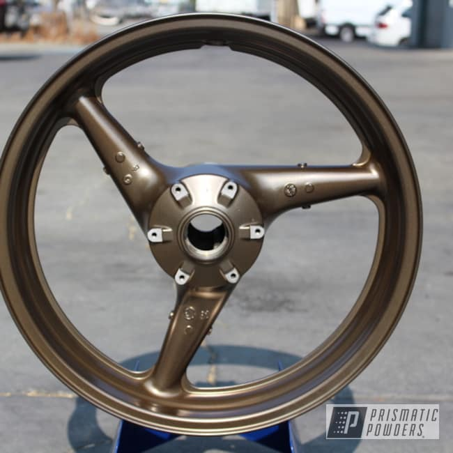 Powder Coating: Wheels,SUPER CHROME USS-4482,Motorcycle Rims,Motorcycle Parts,CBR 954RR,Honda,Honda CBR Wheels,Purepowder,Motorcycles,CBR,Melted Bronze PPB-8034