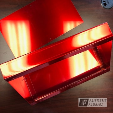 Red Powder Coated Airplane Panels
