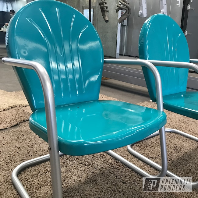 Powder Coating: Chairs,Patio Furniture,New Mexico,Outdoors,RAL 5018 RAL-5018,Sea Shell,Roadrunner