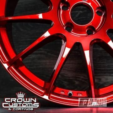 Nissan Maxima Custom Wheels Powder Coated In Lollypop Red