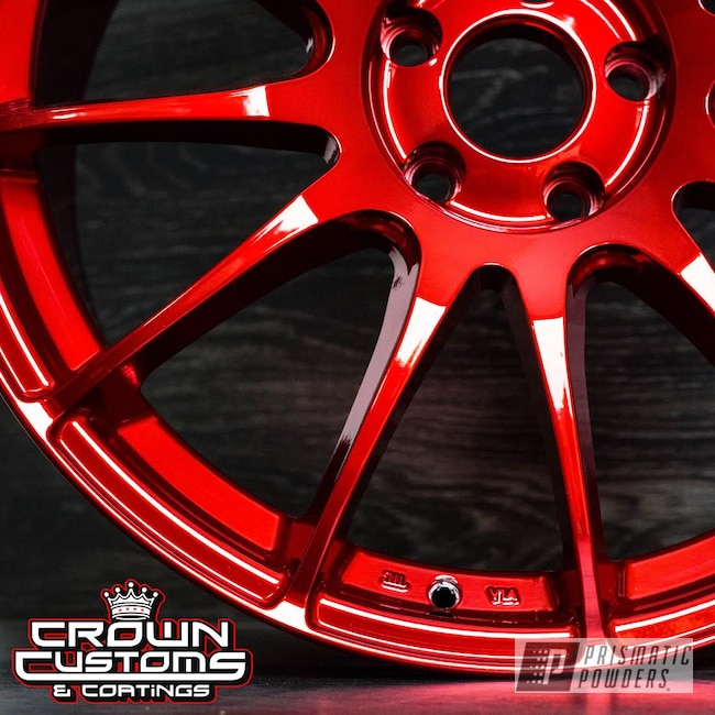 Powder Coating: Wheels,Automotive,Illusion Powder Coating,Nissan,Custom Wheels,LOLLYPOP RED UPS-1506,Maxima,Powder Coat Wheels