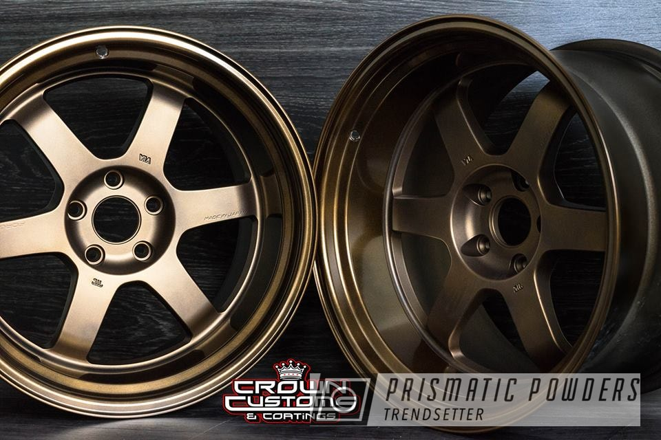 Powder Coating: Wheels,Automotive,Bronze Chrome PMB-4124,Rayswheels,Toyota,bronze,Rays,Two Tone,supra,Casper Clear PPS-4005,18inch