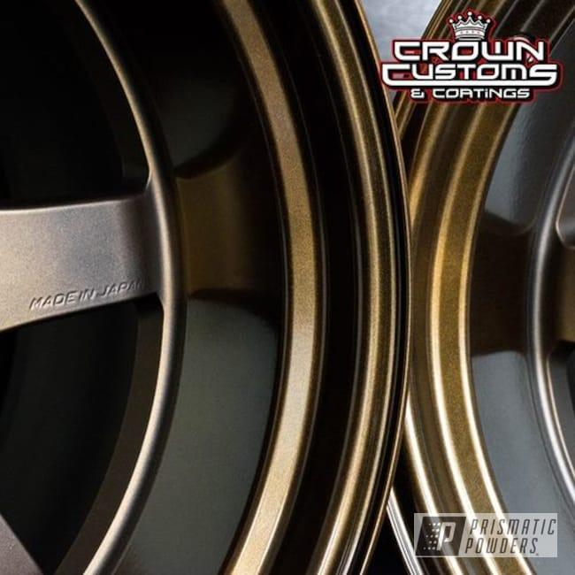 Powder Coating: Wheels,Automotive,Bronze,Bronze Chrome PMB-4124,Rayswheels,Toyota,Rays,Two Tone,supra,Casper Clear PPS-4005,18inch