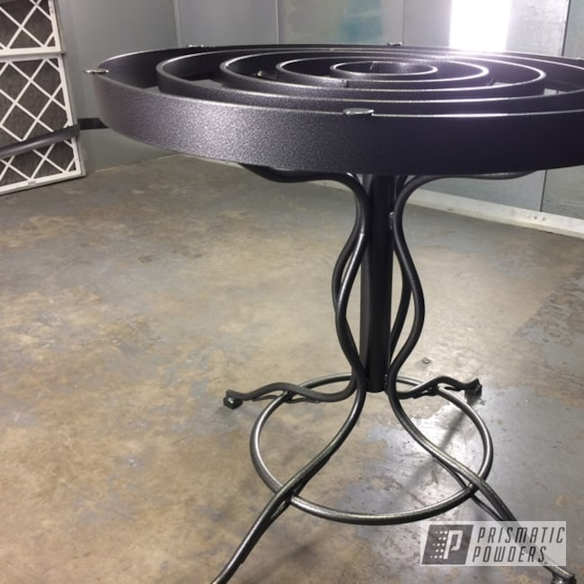 Powder Coated Art Deco Wrought Iron Patio Furniture