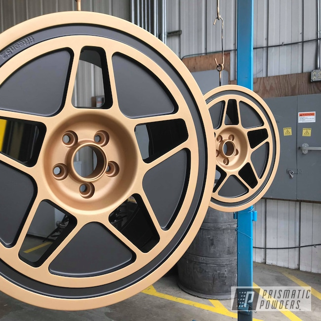 Powder Coating: Flat Vegas Nutmeg PMB-6632,Wheels,Automotive,19inch,BLACK JACK USS-1522,Ford,1552,Two Toned