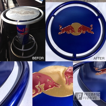 Refinished Redbull Table