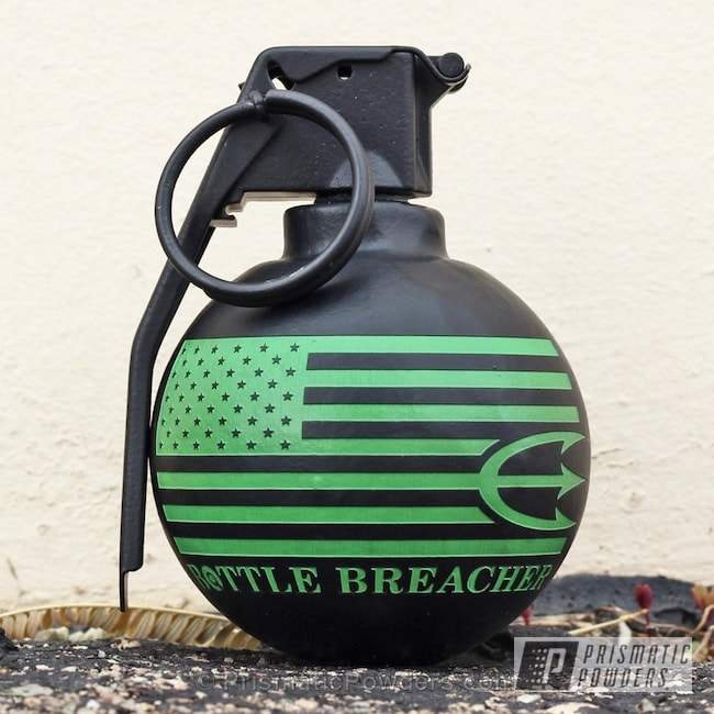 Powder Coating: Go Daddy Green PSS-7008,Single Powder Application,Hand Grenade,BLACK JACK USS-1522,Freedom Frags,Custom 2 Coats,Miscellaneous