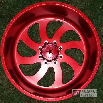 Powder Coated Wheel Done In Anodized Red