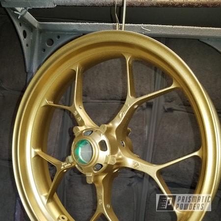 Powder Coating: Motorcycle Rims,Honda,Motorcycles,CBR,Spanish Gold EMS-0940
