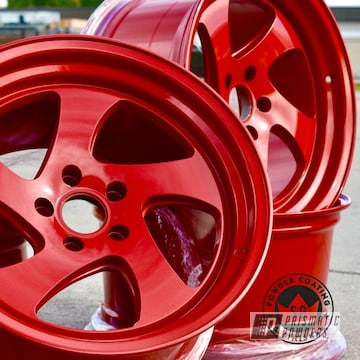 Custom Wheels Done In Illusion Red And Clear Vision